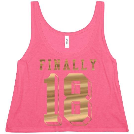 Trendy 18th Birthday Girl