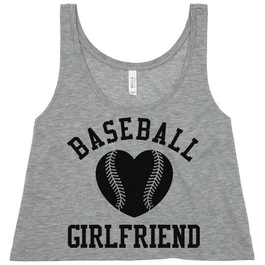 Trendy Baseball Girlfriend Crop Top