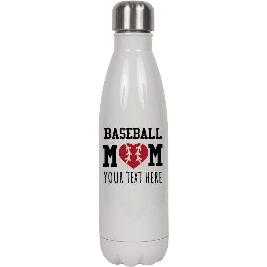 Trendy Baseball Mom Water Bottle
