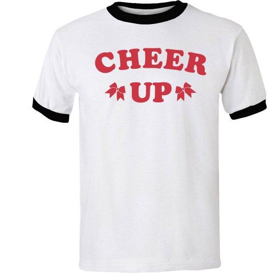 Trendy Cheer Up Cheerleader Tee