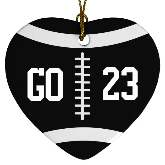 Trendy Christmas Football Ornament With Custom Number