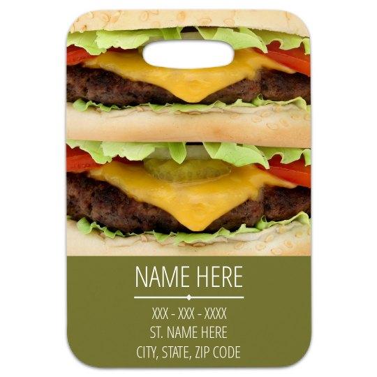 Trendy Custom Cheeseburger Tag