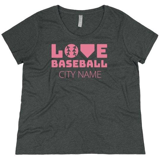 Trendy Custom City Love Baseball