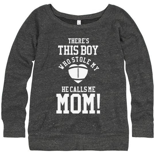 Trendy Cute Football Mom Custom Sweaters