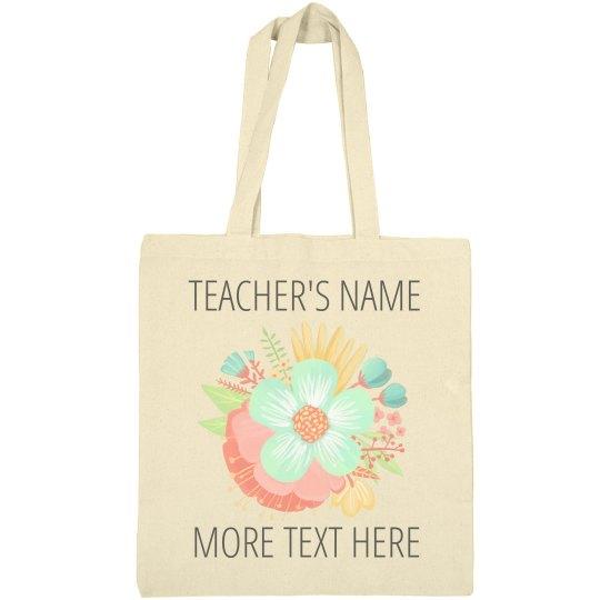 Trendy Floral Custom Teachers Gift