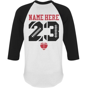 Trendy Football Girlfriend Shirts With Name Number: This ...