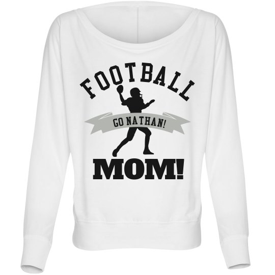 Trendy Football Mom Flowy Top With Custom Name