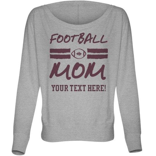 Trendy Football Mom Long Sleeve