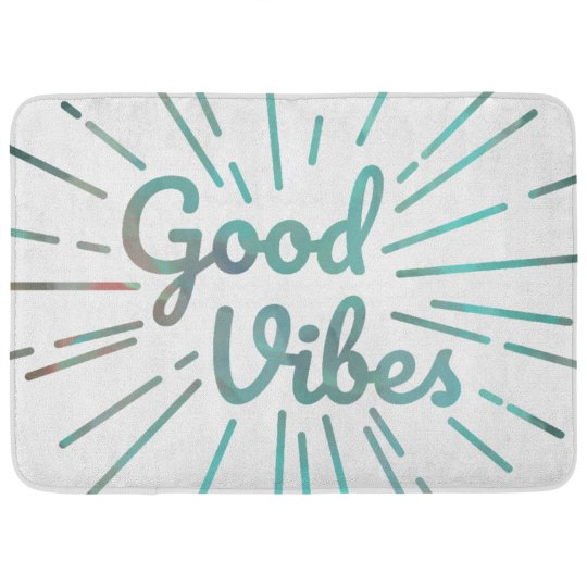 Trendy Good Vibes Bath Mat