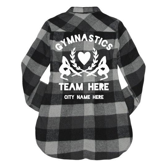 Trendy Gymnast Team Flannel