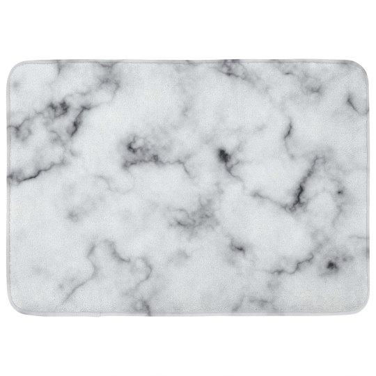Trendy Marble Print Bath Mat