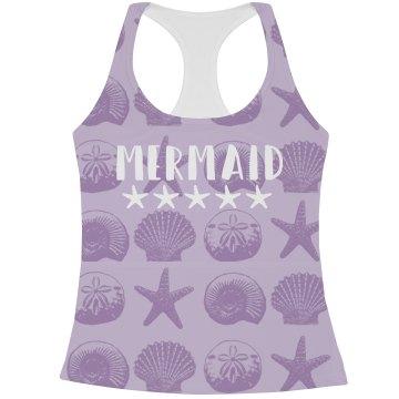 Trendy Mermaid Seashell Pattern