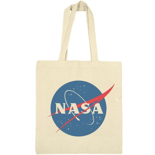 Trendy NASA Logo Graphic Totes