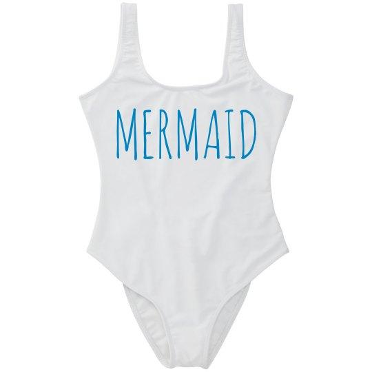 Trendy Text Mermaid Swimsuit