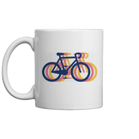 Tri Color Bike Mug