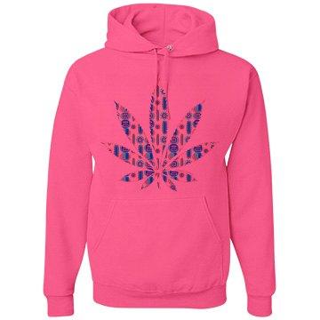 Tribal Cannabis Leaf Hood