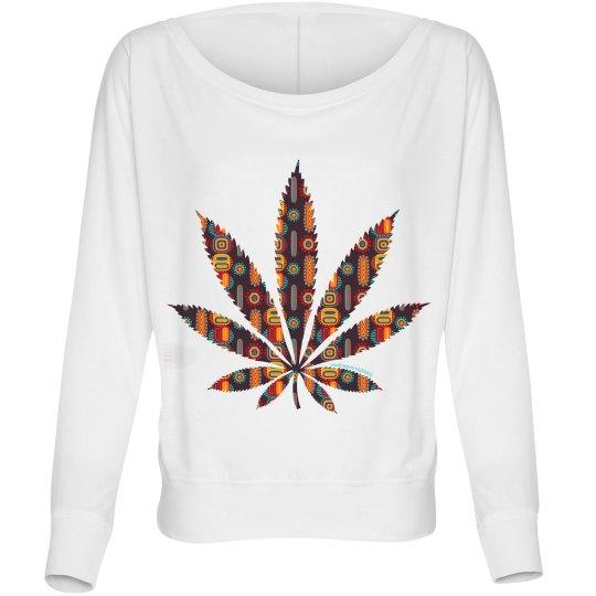 Tribal Cannabis Leaf