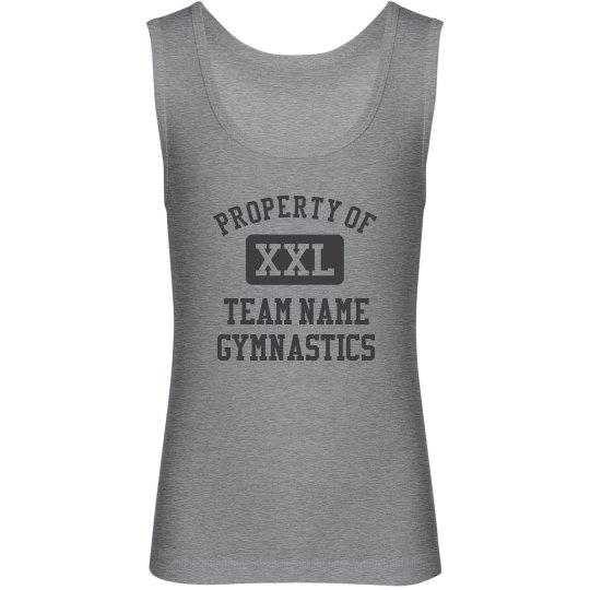 Triblend Custom Youth Gymnastics Tank