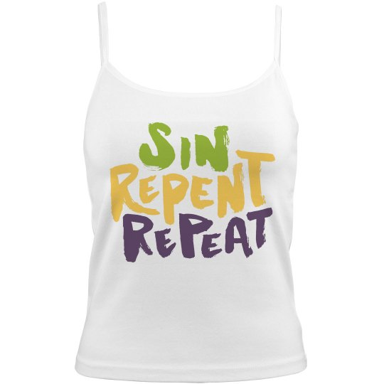Tri-Color Sin Repent Repeat