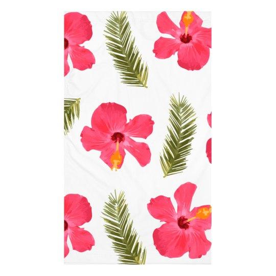 Tropical Flower Print Gaiter
