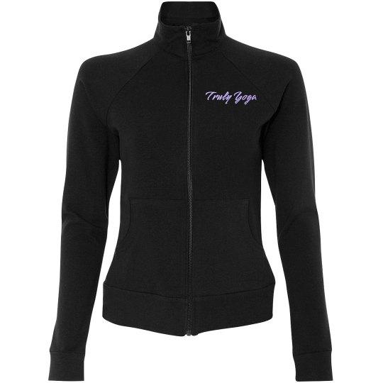 Truly Yoga Lotus Practice Jacket (Black/Opal Blue)