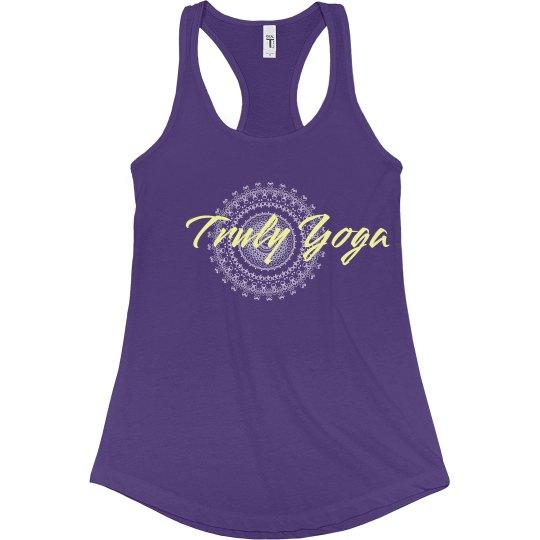 Truly Yoga Racerback Tank (Purple/ Yellow)