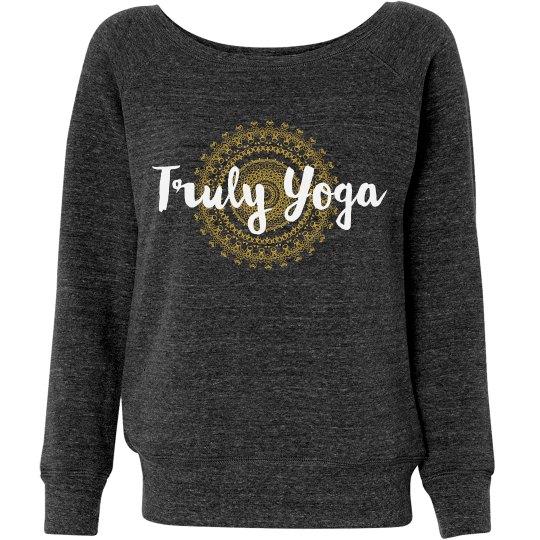 Truly Yoga Wideneck Mandala Sweatshirt