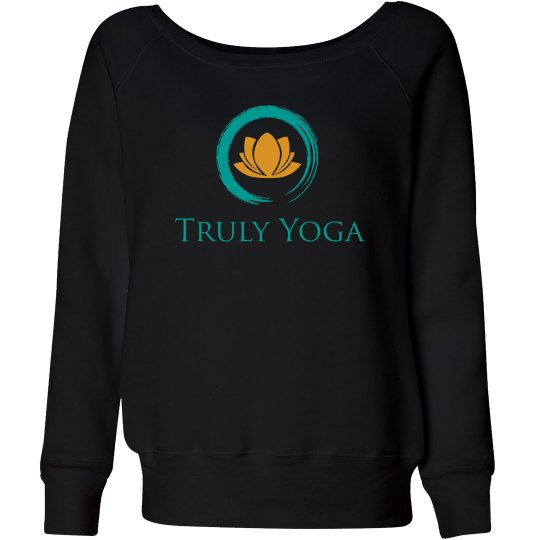 Truly Yoga Wideneck Sweatshirt (Black)