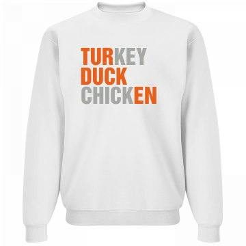 Turducken Text Shirt