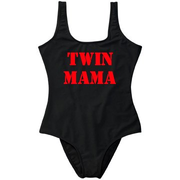 Twin Mama One Piece Swimsuit - Red Metallic