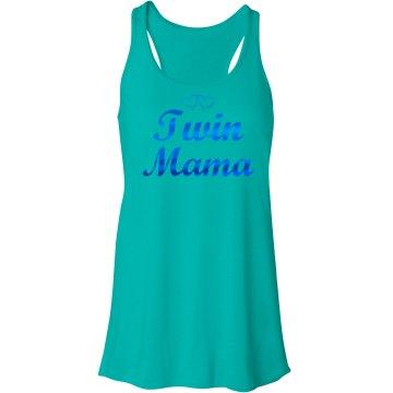 Twin Mama Tank Metallic - Blue