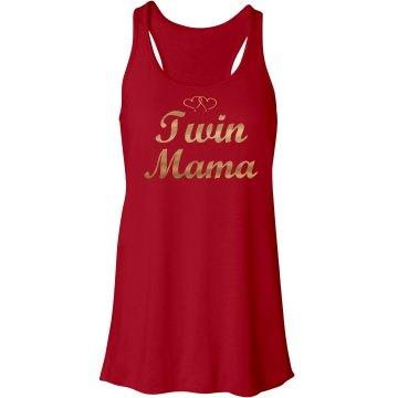 Twin Mama Tank Metallic - Gold