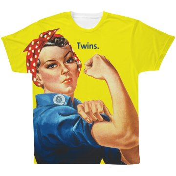 Twins. Iconic Rosie the Riveter Tee