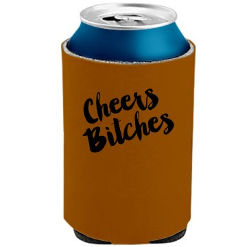 """Twisted Angels Coozie - """"Cheers Bitches"""""""