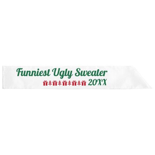 Ugly Sweater Award Sash