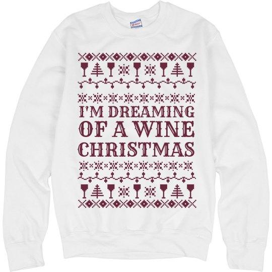 Ugly Sweater Wine Christmas