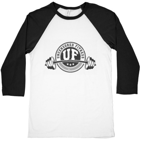Uncensored Fitness Logo 3/4 Sleeve-Mens
