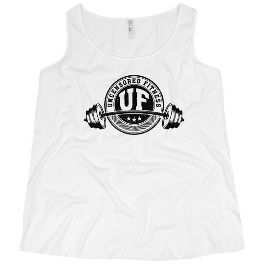 Uncensored Fitness Tank Womens Plus White