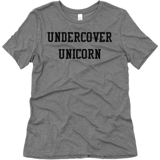 Undercover Unicorn ladies tee