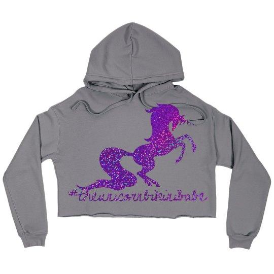 Unicorn crop hoodie