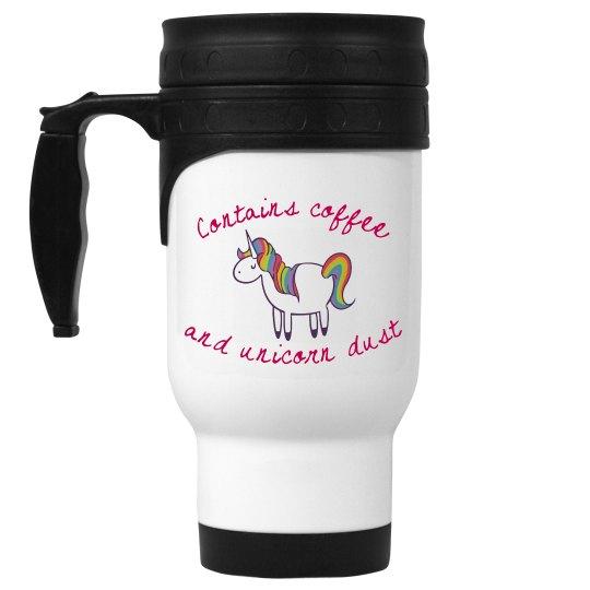 Unicorn dust travel mug