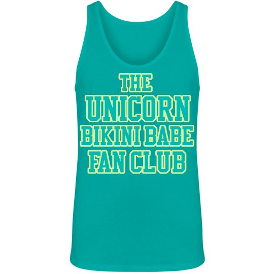 Unicorn Fan Club Men's Tank - Teal/Yellow