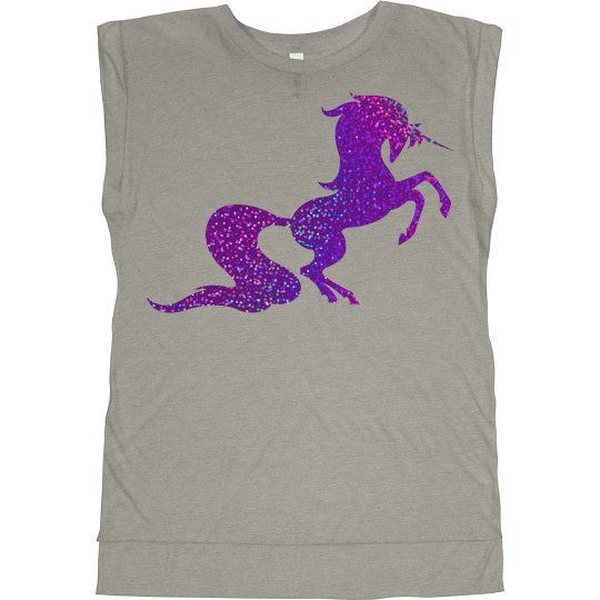 Unicorn girl gang muscle tank