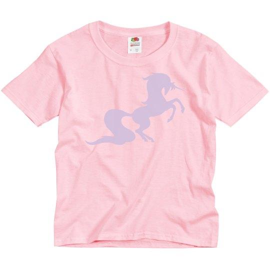 Unicorn in training youth tee