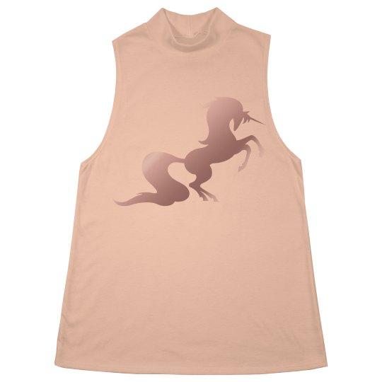 Unicorn mock turtleneck