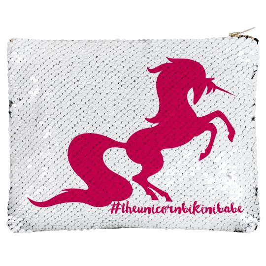 Unicorn sequin make up case