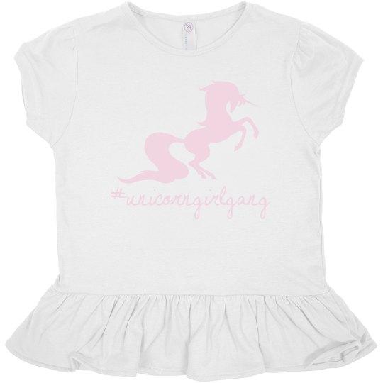 Unicorn toddler ruffle top