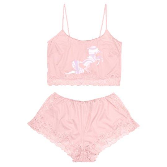 Unicorn vintage lingerie set