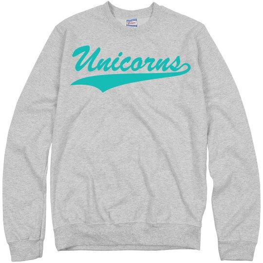 Unicorns varsity crewneck