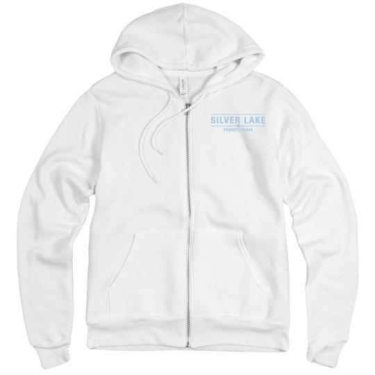 Unisex Adult Full Zip hoodie with Sailboat on back